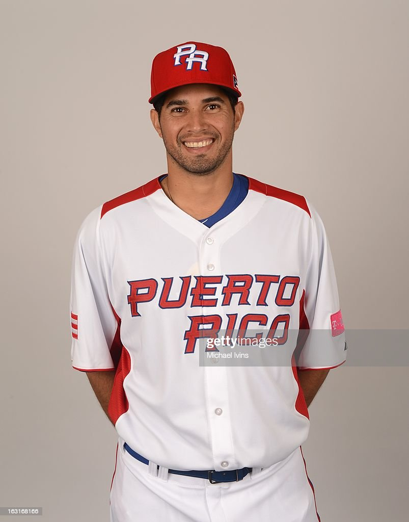 Fernando Cabrera #38 of Team Puerto Rico poses for a headshot for the 2013 World Baseball Classic at the City of Palms Baseball Complex on Monday, March 4, 2013 in Fort Myers, Florida.