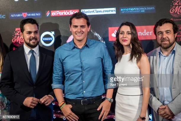 Fernando de Paramo Albert Rivera and Ines Arrimadas attend the photocall of the 'Miguel Poveda Amigos' Gala at Gran Teatre del Liceu on July 25 2017...