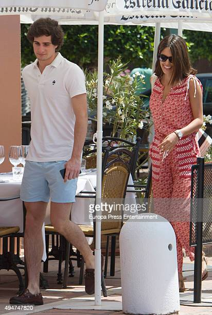 Fernando FitzJames Stuart and Sofia Palazuelo are seen on July 26 2015 in Marbella Spain
