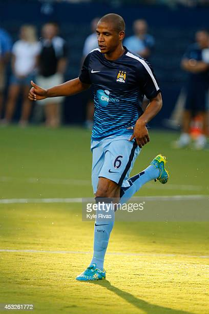 Fernando Francisco Reges of Manchester City warms up before the game against Sporting KC on July 23rd at Sporting Park in Kansas City Kansas