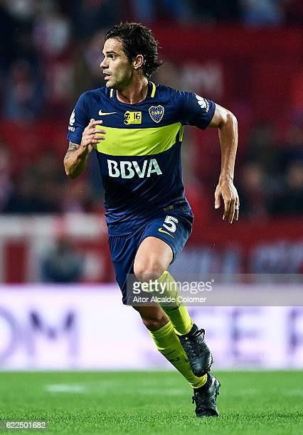 Fernando Gago of Boca Juniors in action during the match between Sevilla FC vs Boca Juniors as part of the friendly match 'Trofeo Antonio Puerta' at...