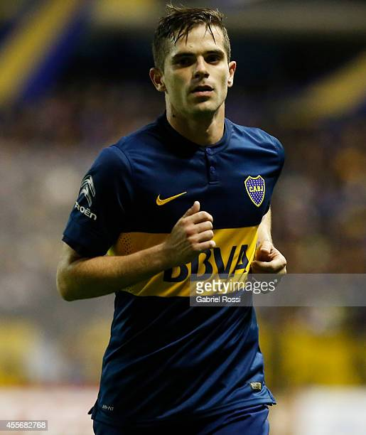 Fernando Gago of Boca Juniors looks on during a second leg match between Boca Juniors and Rosario Central as part of second stage of Copa Total...
