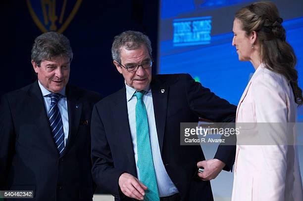 Fernando Galindo President of Telefonica Foundation Cesar Alierta and Princess Elena of Spain attend 'Todos Somos Estudiantes' Movistar awards at the...