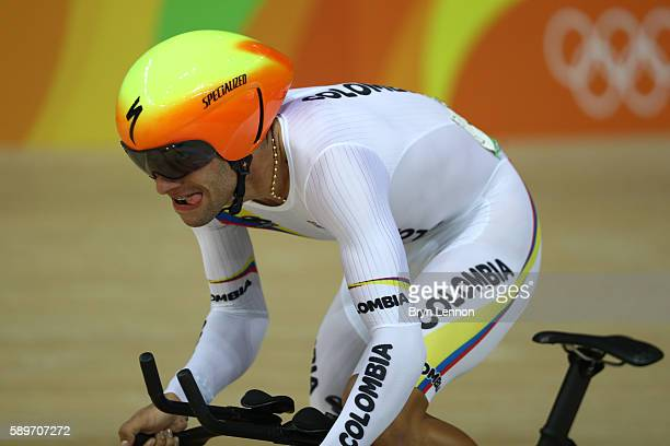 Fernando Gaviria Rendon of Colombia competes in the Cycling Track Men's Omnium Time Trial on Day 10 of the Rio 2016 Olympic Games at the Rio Olympic...