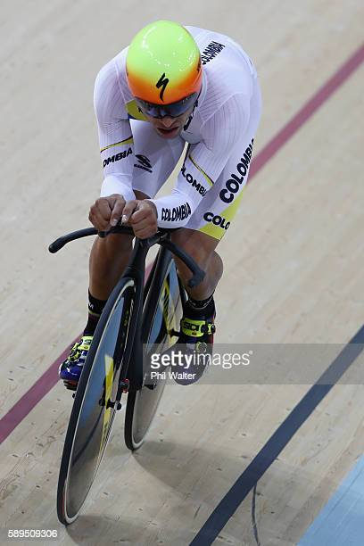 Fernando Gaviria Rendon of Colombia competes in the Men's Omnium Individual Pursuit on Day 9 of the Rio 2016 Olympic Games at the Rio Olympic...