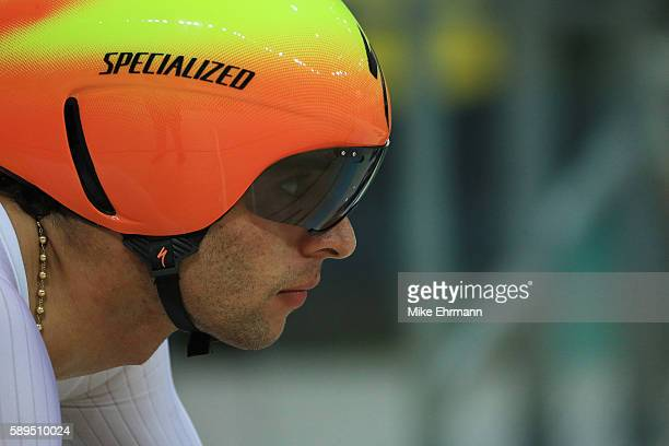 Fernando Gaviria Rendon of Colombia prepares to compete in the Men's Omnium Individual Pursuit on Day 9 of the Rio 2016 Olympic Games at the Rio...