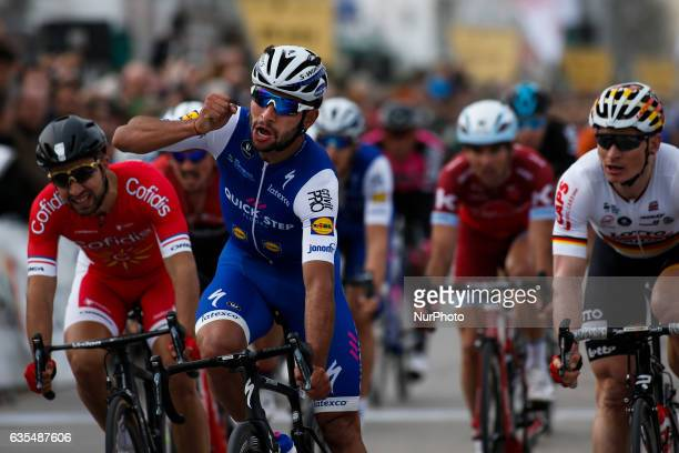 Fernando Gaviria Rendon of QuickStep Floors wins the 1st stage of the cycling Tour of Algarve between Albufeira and Lagos on February 15 2017...
