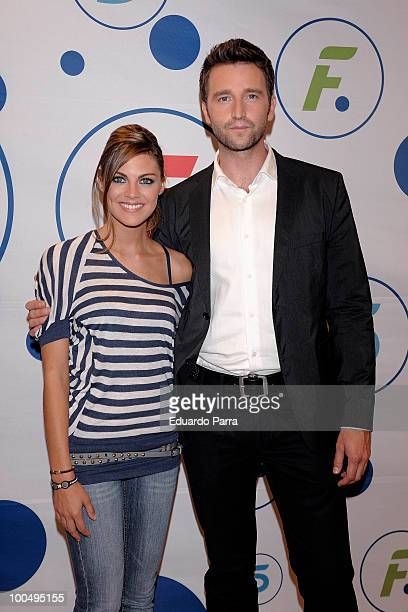 Fernando Gil and Amaia Salamanca attend Felipe and Letizia Tv movie press conference at Tele 5 studios on May 24 2010 in Madrid Spain