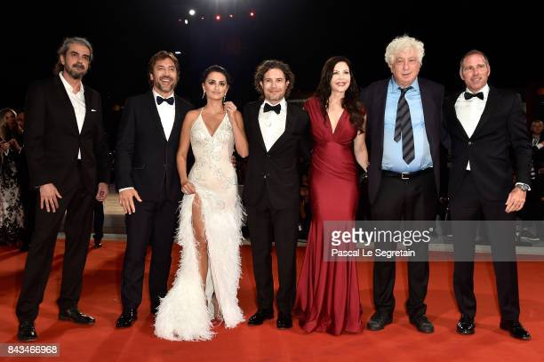 Fernando León de Aranoa Javier Bardem Penélope Cruz Dean Nichols guest Avi Lerner and Miguel Menéndez de Zubillaga walk the red carpet ahead of the...