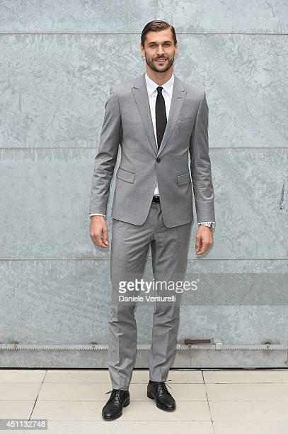 Fernando Llorente attends Giorgio Armani show during Milan Menswear Fashion Week Spring Summer 2015 on June 24 2014 in Milan Italy
