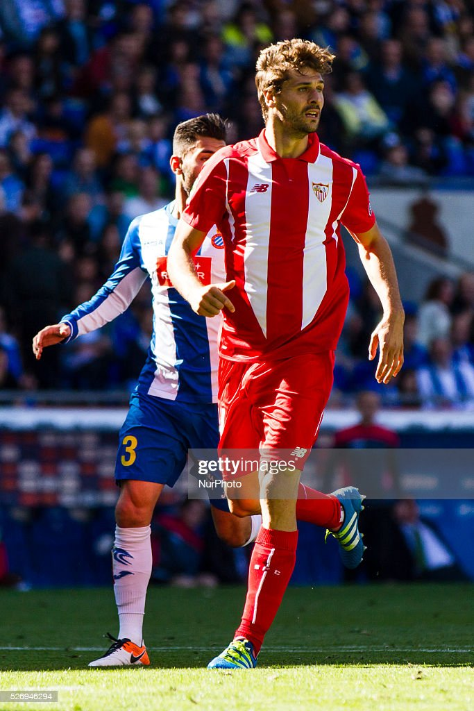 Fernando Llorente during the match between RCD Espanyol and Sevilla CF, for the round 36 of the Liga BBVA, played at RCD Espanyol Stadium on 1th May 2016 in Barcelona, Spain.