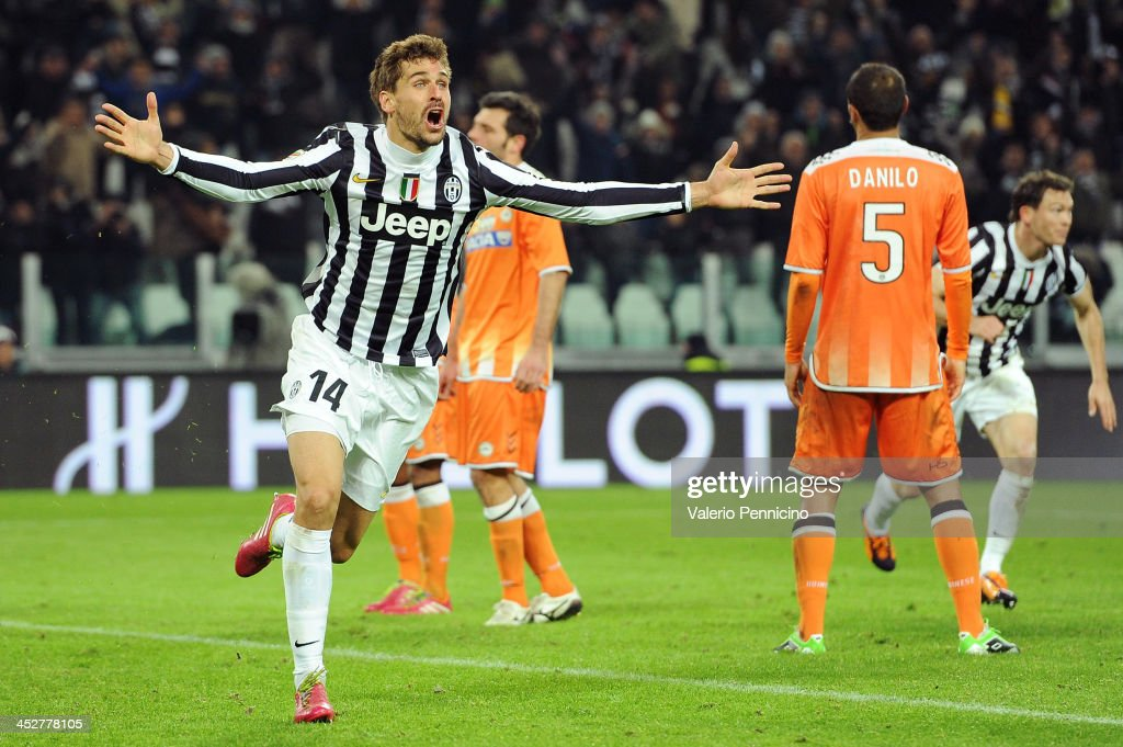 Fernando Llorente of Juventus celebrates after scoring the opening goal during the Serie A match between Juventus and Udinese Calcio at Juventus Arena on December 1, 2013 in Turin, Italy.