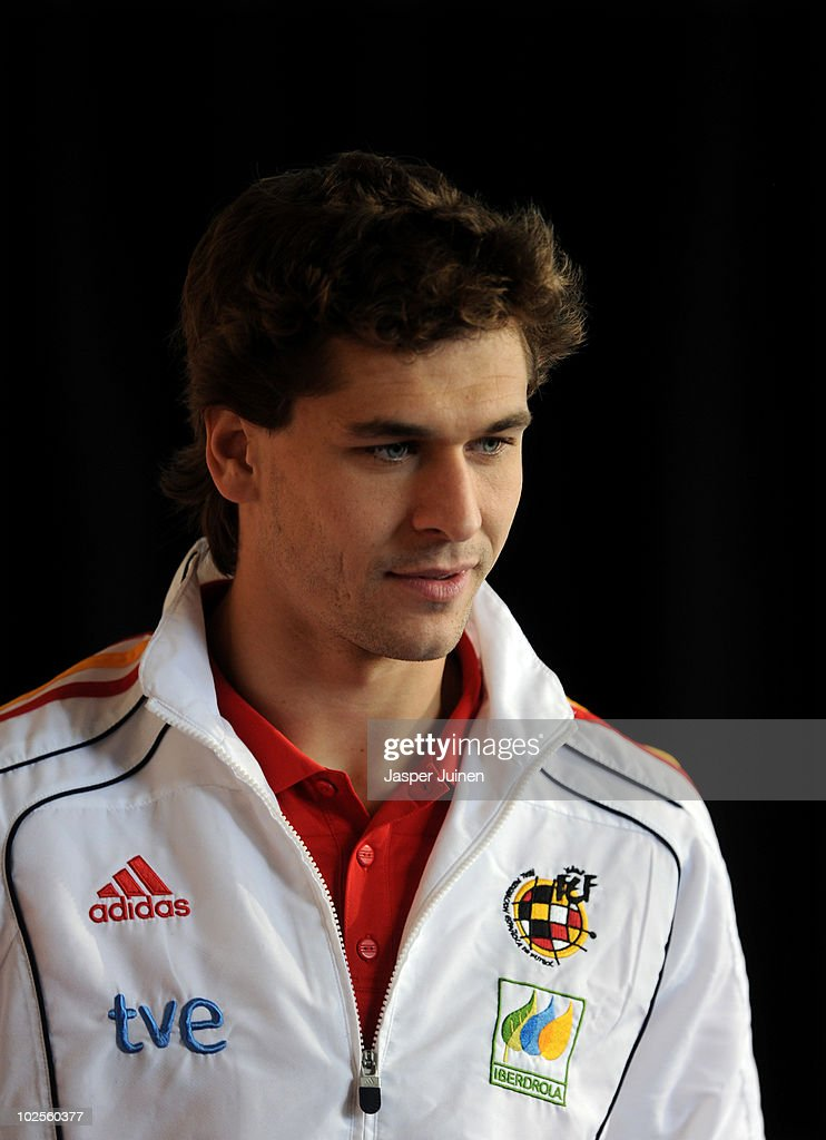 Fernando Llorente of Spain arrives for a press conference, ahead of their World Cup 2010 Quarter-Final match against Paraguay, on July 1, 2010 in Potchefstroom, South Africa.