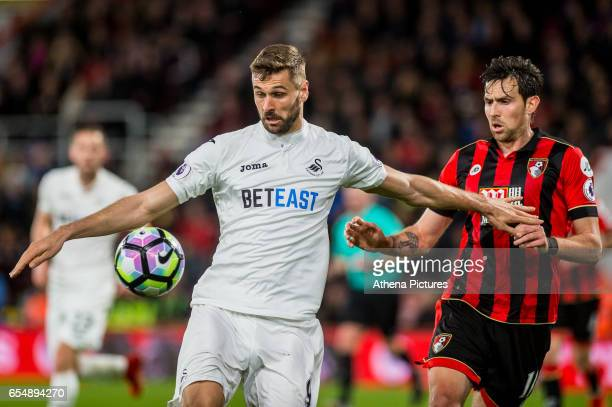 Fernando Llorente of Swansea City in action during the Premier League match between AFC Bournemouth and Swansea City at Vitality Stadium on March 18...