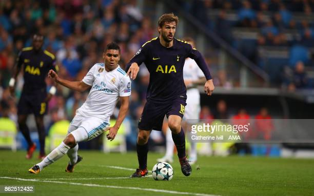 Fernando Llorente of Tottenham Hotspur during the UEFA Champions League group H match between Real Madrid and Tottenham Hotspur at Estadio Santiago...
