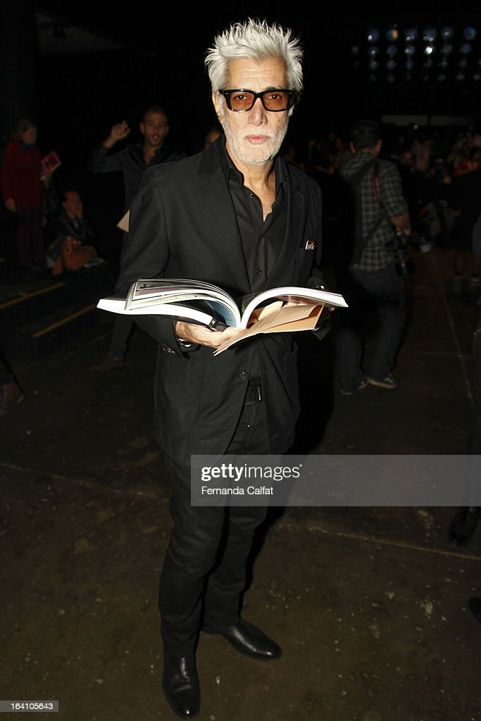 Fernando Lousa attends the Ellus show during Sao Paulo Fashion Week Summer 2013/2014 on March 19, 2013 in Sao Paulo, Brazil.