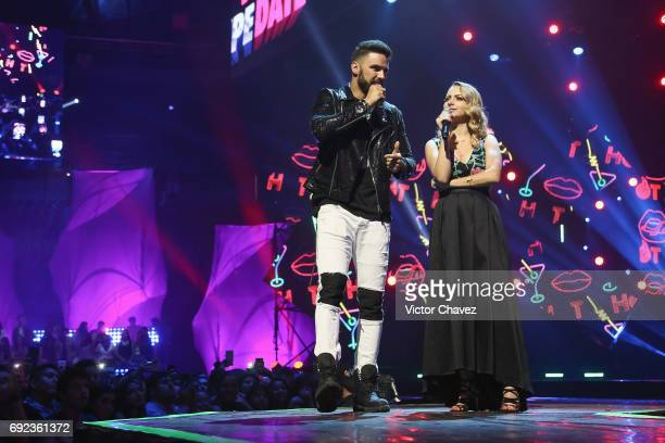 Fernando Lozada and YosStop speak on stage during the MTV MIAW Awards 2017 at Palacio de Los Deportes on June 3 2017 in Mexico City Mexico