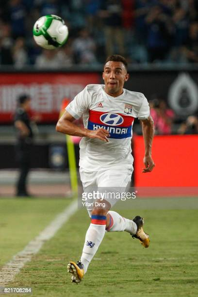 Fernando Marcal of Olympique Lyonnais reacts during the 2017 International Champions Cup football match between FC Internationale v Olympique...