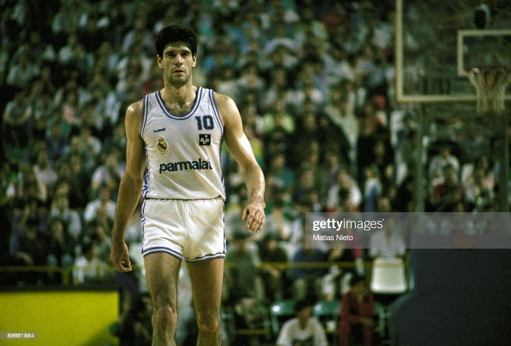 Fernando Martin basketball player of the Real Madrid at a match