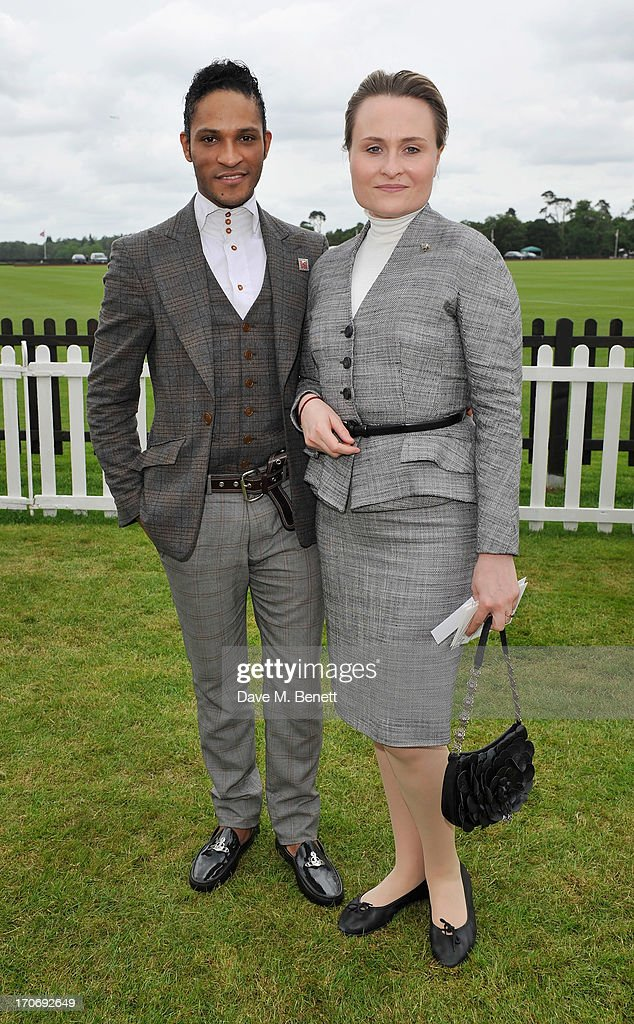 Fernando Montano and guest attend the Cartier Queen's Cup Polo Day 2013 at Guards Polo Club on June 16, 2013 in Egham, England.