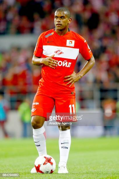 Fernando of FC Spartak Moscow during the Russian Premier League match between FC Spartak Moscow and Terek Grozny at Otkrytie Arena Stadium in Moscow...