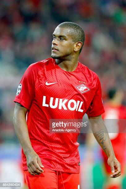 Fernando of Spartak Moscow is seen during the UEFA Champions League match between Spartak Moscow and Liverpool FC at Spartak Stadium in Moscow on...