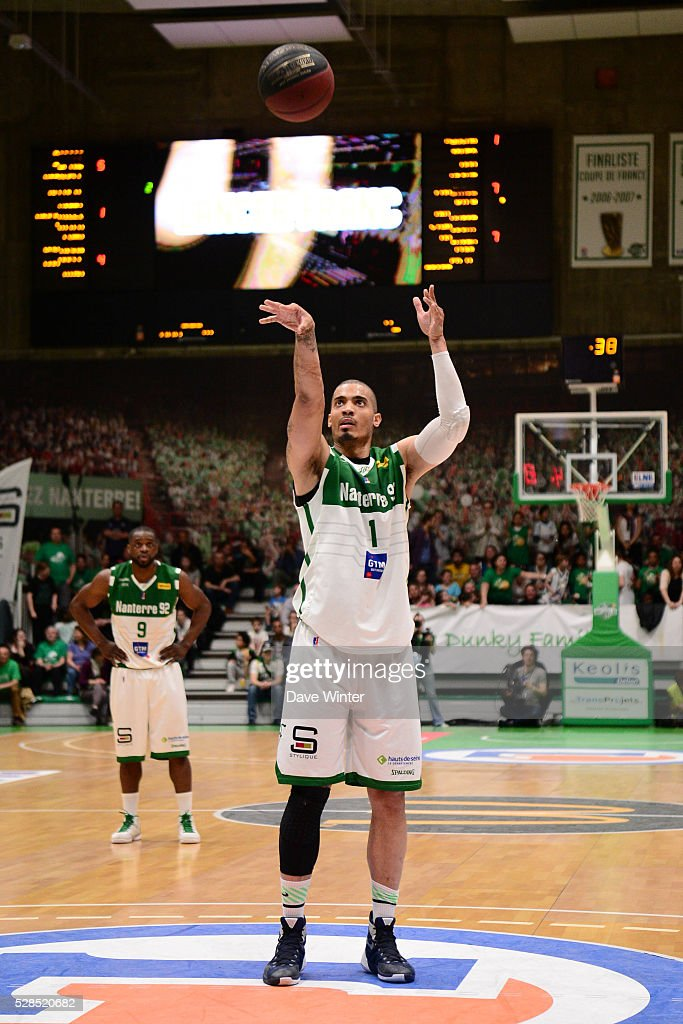 Fernando Raposo of Nanterre during the basketball French Pro A League match between Nanterre and Paris Levallois on May 5, 2016 in Nanterre, France.