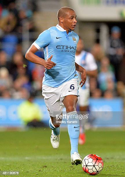 Fernando Reges of Manchester City in action during the international friendly match between Melbourne City and Manchester City at Cbus Super Stadium...