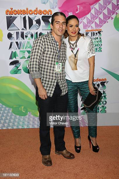 Fernando Reina and his wife Galilea Montijo arrives at Kids Choice Awards Mexico 2012 at Pepsi Center WTC on September 1 2012 in Mexico City Mexico