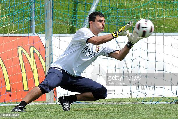 Fernando Rubinho goalkeeper of Palermo in action during a Palermo training session at Jacques Lemans Arena on July 27 2010 in St Veit an der Glan...