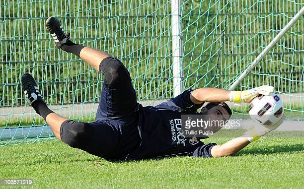 Fernando Rubinho goalkeeper of Palermo in action during a Palermo training session at Jacques Lemans Arena on August 2 2010 in St Veit an der Glan...