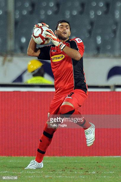 Fernando Rubinho goalkeeper of Palermo in action during the Serie A match between ACF Fiorentina and US Citta di Palermo at Stadio Artemio Franchi on...