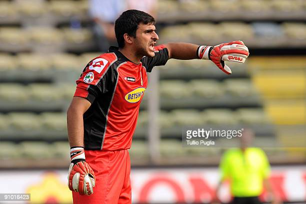 Fernando Rubinho goalkeeper of Palermo issues instructions during the Serie A match played between Parma FC and US Citta di Palermo at Stadio Ennio...