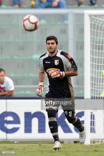 Fernando Rubinho goalkeeper of Palermo looks on during the Serie A match played between US Citta di Palermo and AS Bari at Stadio Renzo Barbera on...