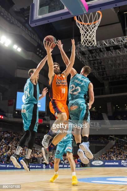 Fernando San Emeterio during Movistar Estudiantes victory over Valencia Basket Club in Liga Endesa regular season game celebrated in Madrid at Wizink...