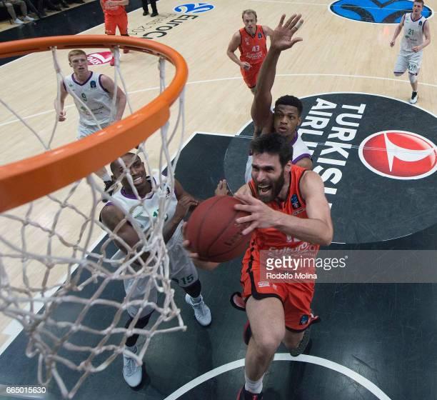 Fernando San Emeterio of Valencia Basket in action during the 20162017 7Days Eurocup Finals Leg 3 Valencia Basket v Unicaja Malaga at Pabellon Fuente...