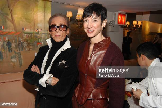 Fernando Sanchez and Amy Fine Collins attend Andre Leon Talley and Robert Burke host at La Caravelle for Loulou de la Falaise Collection on February...
