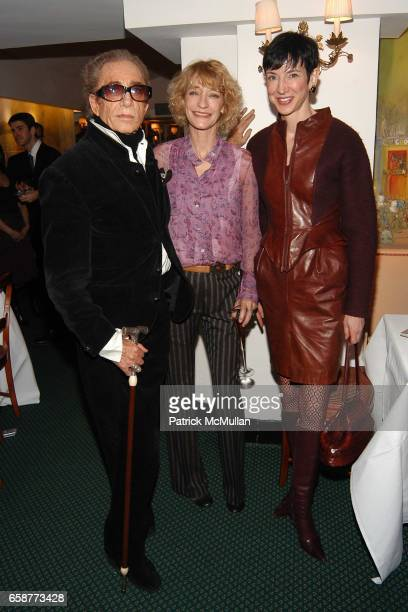 Fernando Sanchez Loulou de la Falaise and Amy Fine Collins attend Andre Leon Talley and Robert Burke host at La Caravelle for Loulou de la Falaise...