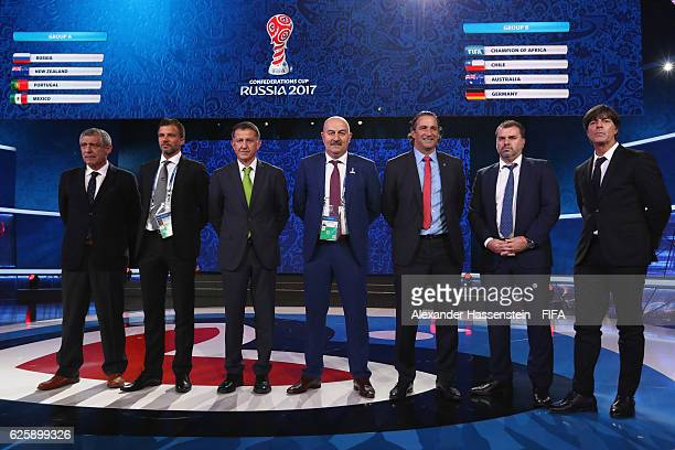Fernando Santos head coach of the Portugal national football team Anthony Hudson head coach of the New Zealand national football team Juan Carlos...