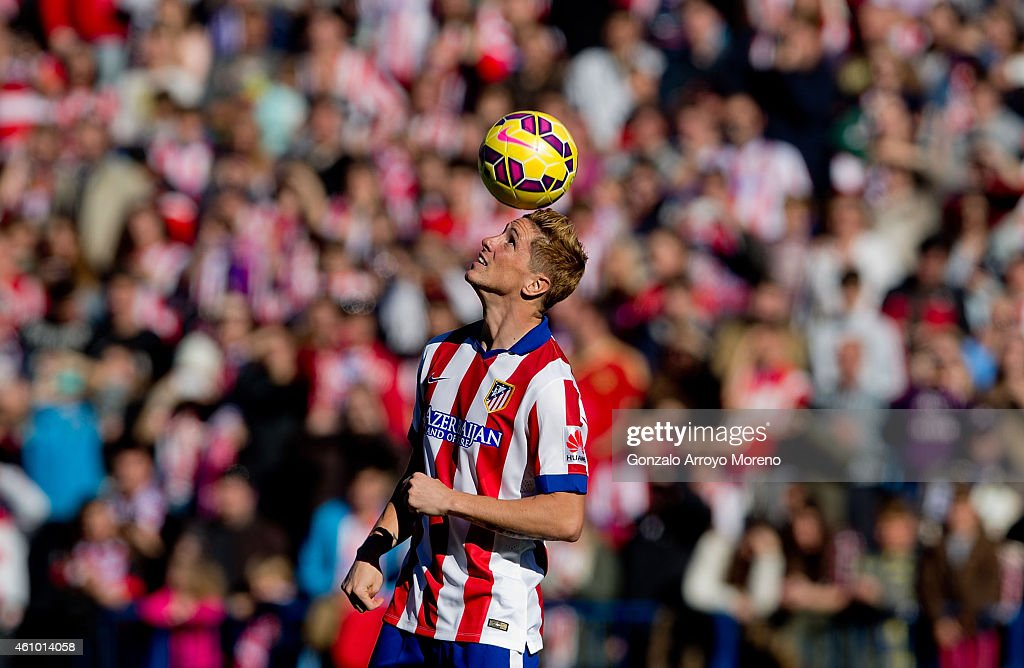Fernando Torres attends his presentation as the new Club Atletico de Madrid signing at Vicente Calderon Stadium on January 4, 2015 in Madrid, Spain.