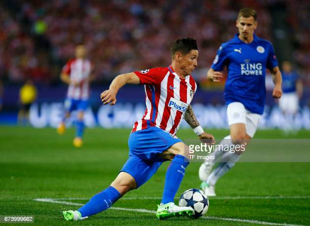 Fernando Torres of Atletico Madrid in action during the UEFA Champions League Quarter Final first leg match between Club Atletico de Madrid and...