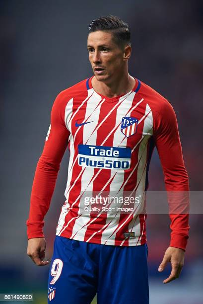 Fernando Torres of Atletico Madrid looks on during the La Liga match between Atletico Madrid and Barcelona at Estadio Wanda Metropolitano on October...