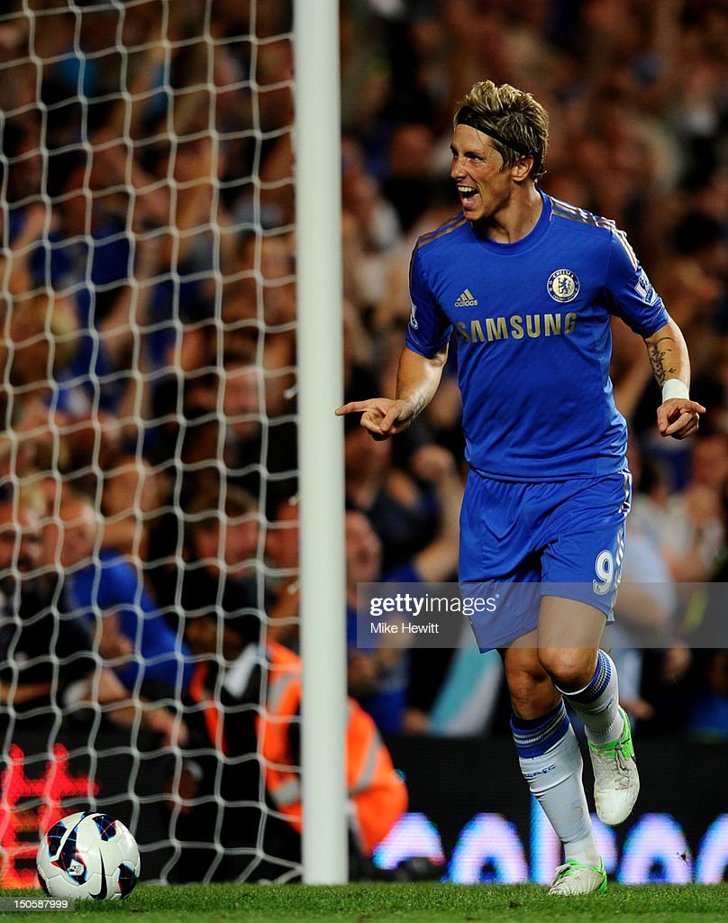 <a gi-track='captionPersonalityLinkClicked' href=/galleries/search?phrase=Fernando+Torres&family=editorial&specificpeople=194755 ng-click='$event.stopPropagation()'>Fernando Torres</a> of Chelsea celebrates scoring their third goal during the Barclays Premier League match between Chelsea and Reading at Stamford Bridge on August 22, 2012 in London, England.