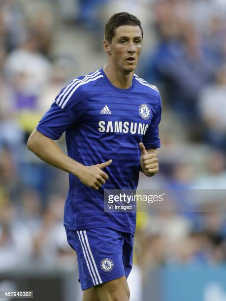 Fernando Torres of Chelsea during the friendly match between Vitesse Arnhem and Chelsea at Gelredome on July 30 2014 in Arnhem The Netherlands