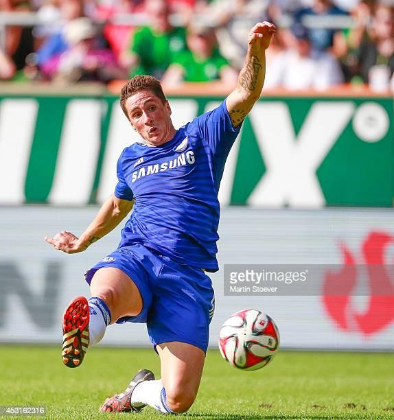 Fernando Torres of Chelsea during the pre season friendly match between SV Werder Bremen and FC Chelsea at Weserstadion on August 3 2014 in Bremen...