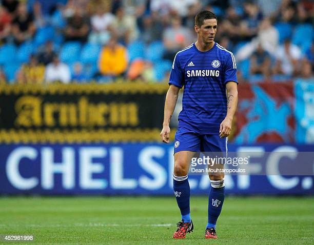 Fernando Torres of Chelsea in action during the pre season friendly match between Vitesse Arnhem and Chelsea at the Gelredome Stadium on July 30 2014...