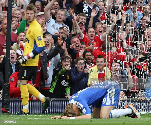 Fernando Torres of Chelsea looks dejected after missing an easy chance during the Barclays Premier League match between Manchester United and Chelsea...