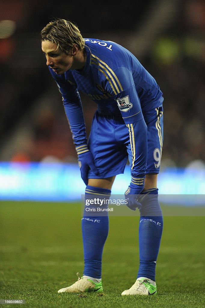 <a gi-track='captionPersonalityLinkClicked' href=/galleries/search?phrase=Fernando+Torres&family=editorial&specificpeople=194755 ng-click='$event.stopPropagation()'>Fernando Torres</a> of Chelsea looks on during the Barclays Premier League match between Stoke City and Chelsea at the Britannia Stadium on January 12, 2013, in Stoke-on-Trent, England.