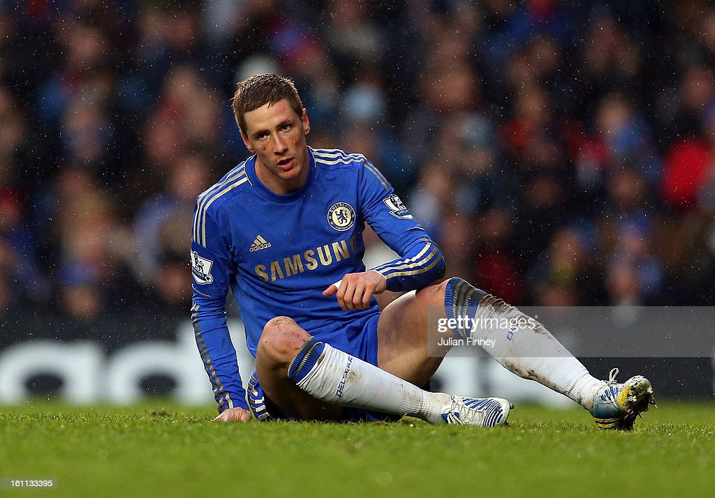 <a gi-track='captionPersonalityLinkClicked' href=/galleries/search?phrase=Fernando+Torres&family=editorial&specificpeople=194755 ng-click='$event.stopPropagation()'>Fernando Torres</a> of Chelsea looks on during the Barclays Premier League match between Chelsea and Wigan Athletic at Stamford Bridge on February 9, 2013 in London, England.
