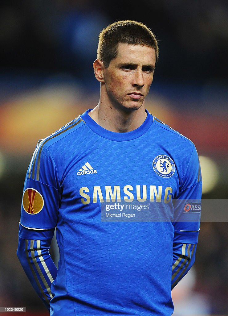 Fernando Torres of Chelsea looks on during the UEFA Europa League Round of 32 second leg match between Chelsea and Sparta Praha at Stamford Bridge on February 21, 2013 in London, England.